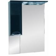 Misty Зеркальный шкаф Жасмин 65 L черный, эмаль