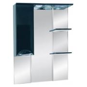Misty Зеркальный шкаф Жасмин 75 L черный, эмаль