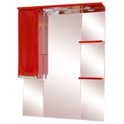 Misty Зеркальный шкаф Жасмин 75 L красный, эмаль