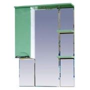 Misty Зеркальный шкаф Жасмин 75 L салатовый, эмаль
