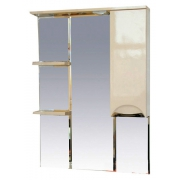 Misty Зеркальный шкаф Жасмин 75 R бежевый, эмаль