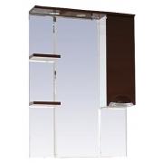 Misty Зеркальный шкаф Жасмин 75 R коричневый, эмаль