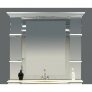Misty Зеркало Мелиса 130 белое, глянец