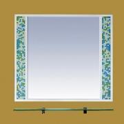 Misty Зеркало Жемчужина 90 бело-голубая мозаика