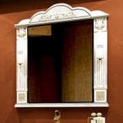 Misty Зеркало для ванной Барокко 100 белое патина