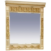 Misty Зеркало для ванной Беатрис 80 бежевое патина