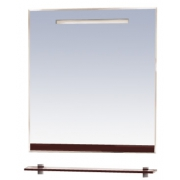 Misty Зеркало для ванной Джулия 65 коричневое