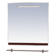 Misty Зеркало для ванной Джулия 75 коричневое
