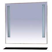 Misty Зеркало для ванной Лика 90 черная полка