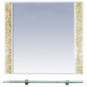 Misty Зеркало для ванной Морена 90 золотая мозаика