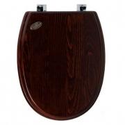 Крышка-сиденье Simas Londra (LO008noce/cr) дерево (петли хром) микролифт