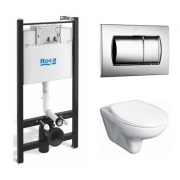Инсталляция Roca Active WC ПЭК (893100010) в комплекте с унитазом Roca Mateo микролифт