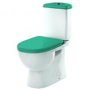 Унитаз напольный Sanita Lux Best Color Sea с крышкой-сиденьем микролифт
